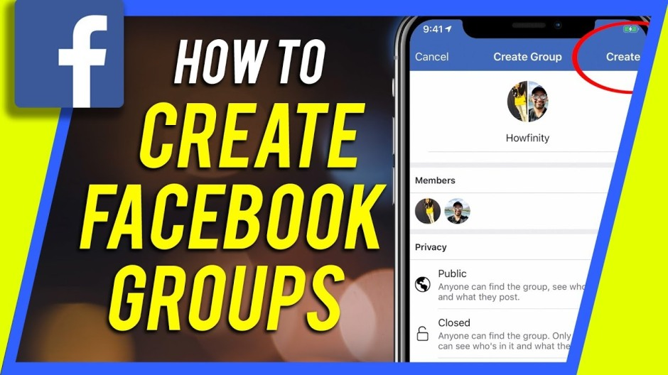 How to create Facebook groups
